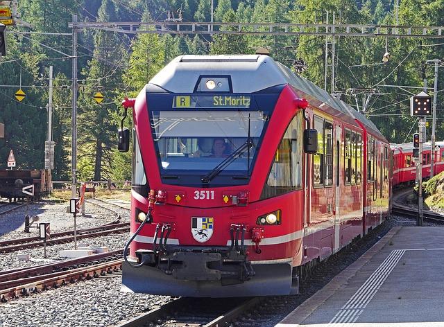 Bernina railway St Moritz