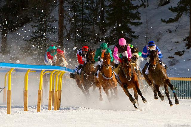 St Moritz Horse Race, Frozen Lake